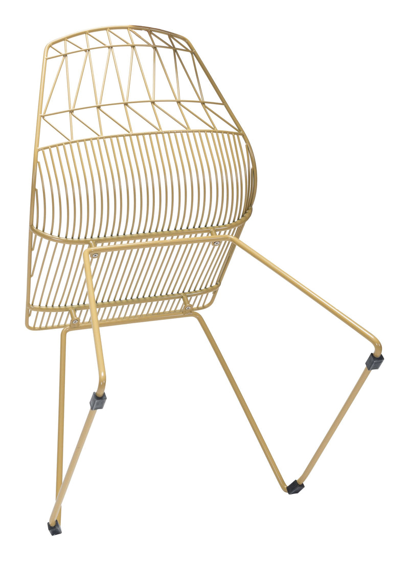 Brody Dining Chair Gold (Set of 2)