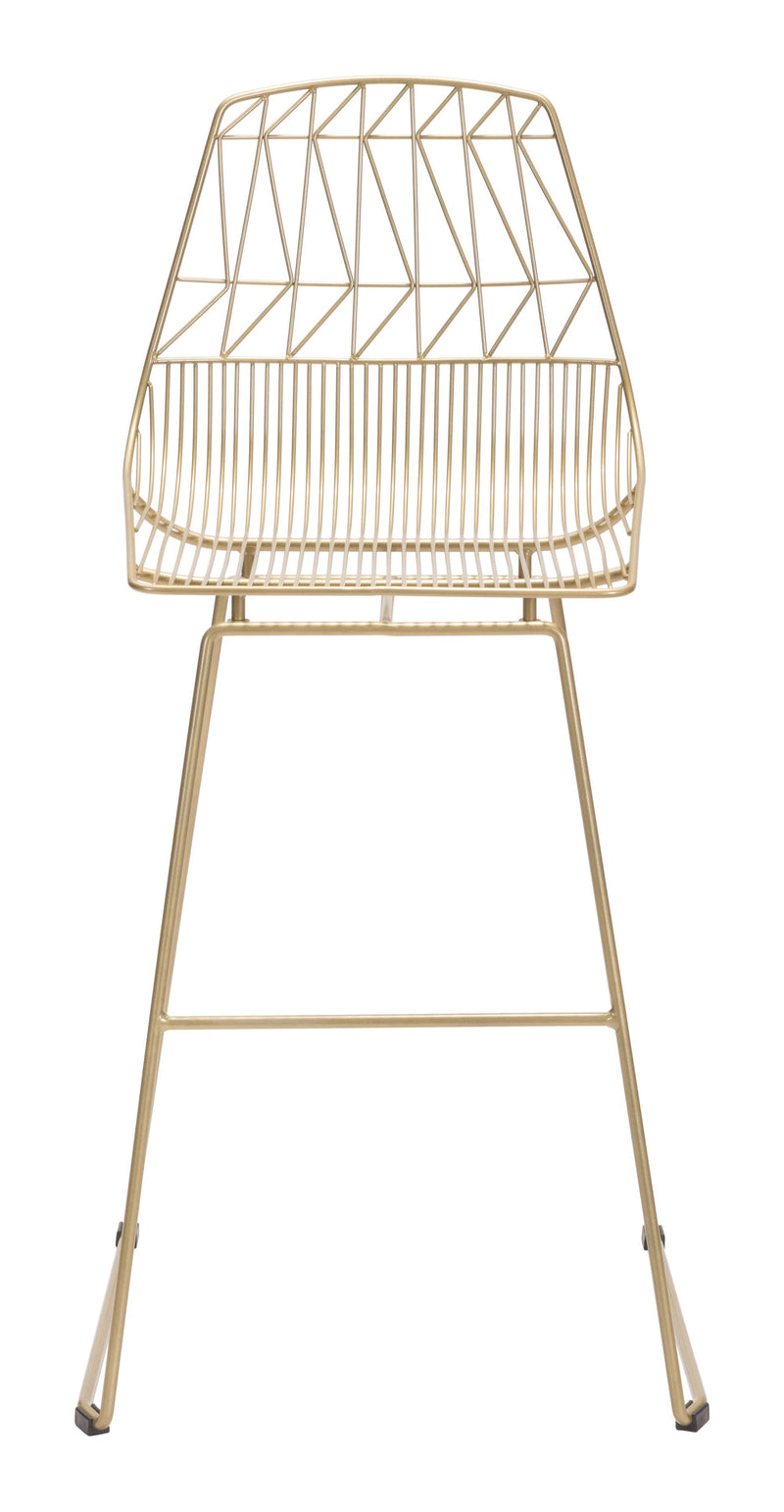 Brody Bar Chair Gold (Set of 2)