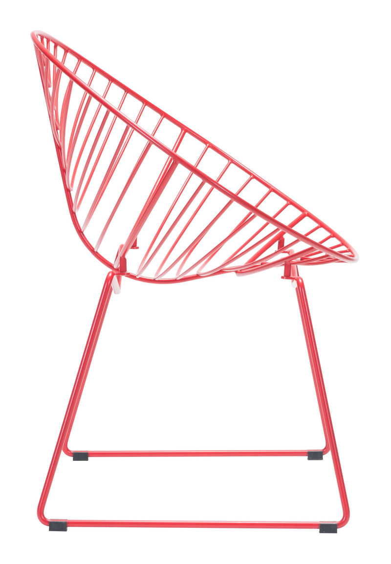 Hyde Outdoor Lounge Chair Red (Set of 2)