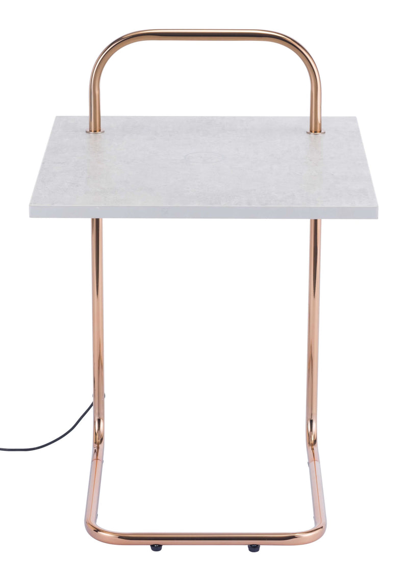 Essex Wireless Charging Side Table C&G