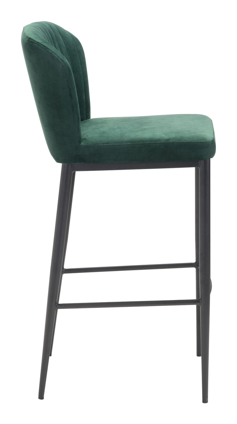 Tolivere Bar Chair Green (Set of 2)