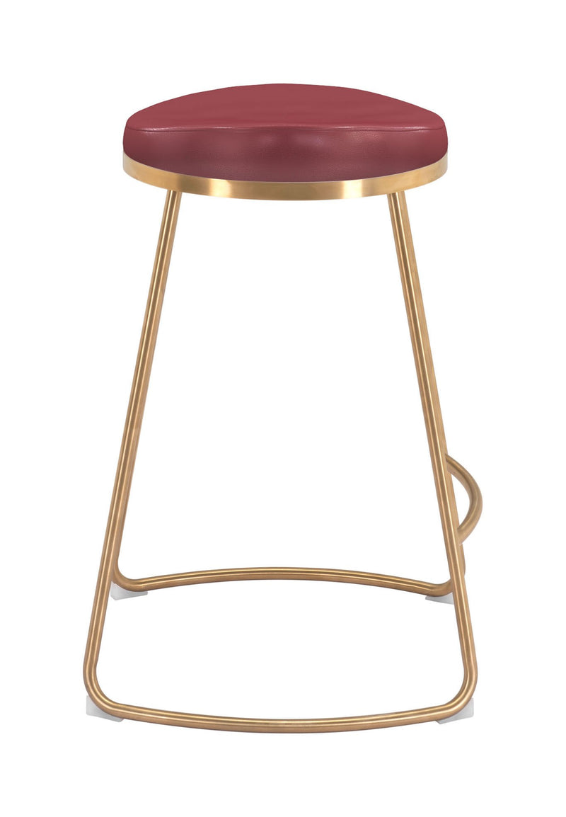 Bree Counter Stool Burgundy (Set of 2)