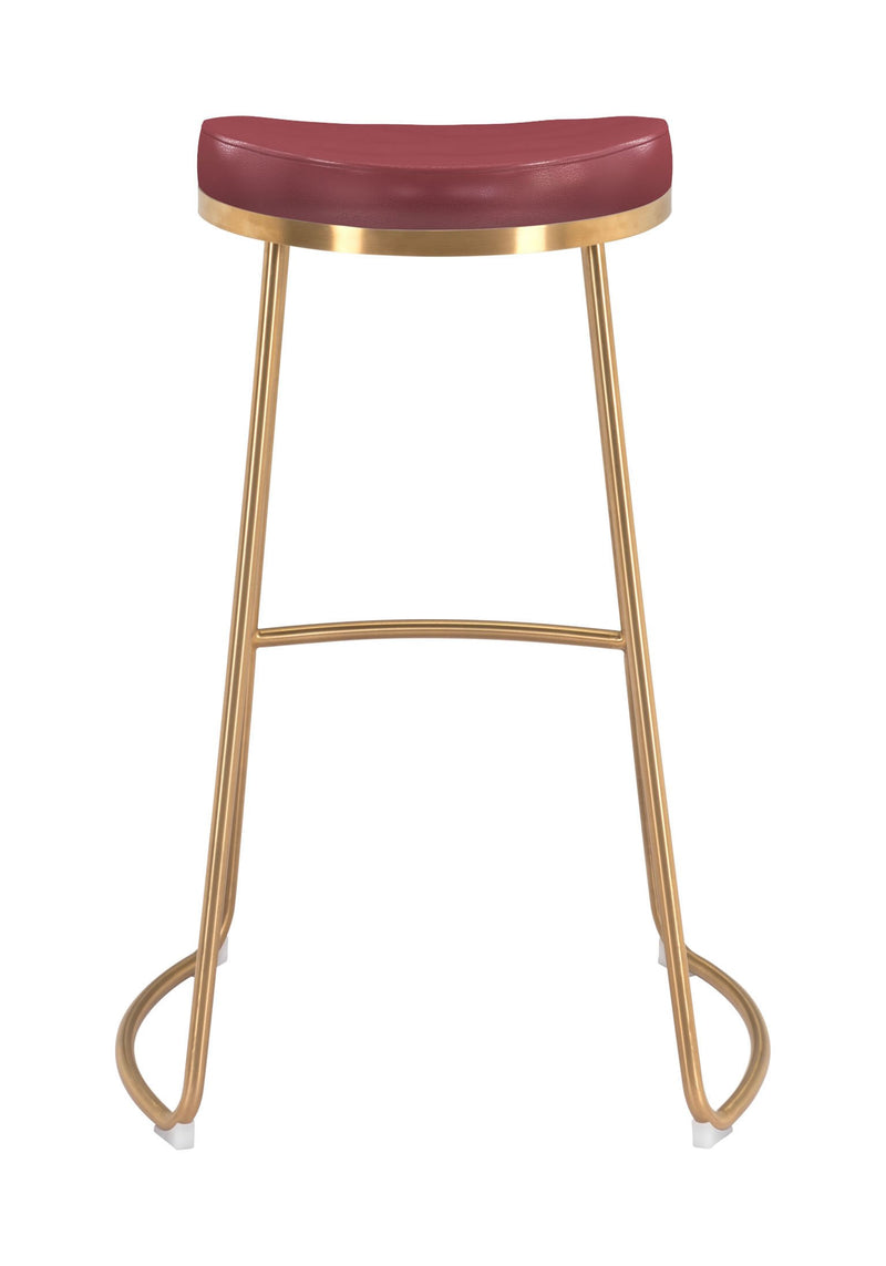 Bree Barstool Burgundy (Set of 2)