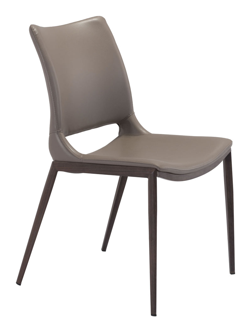 Ace Dining Chair Gray & Walnut (Set of 2)