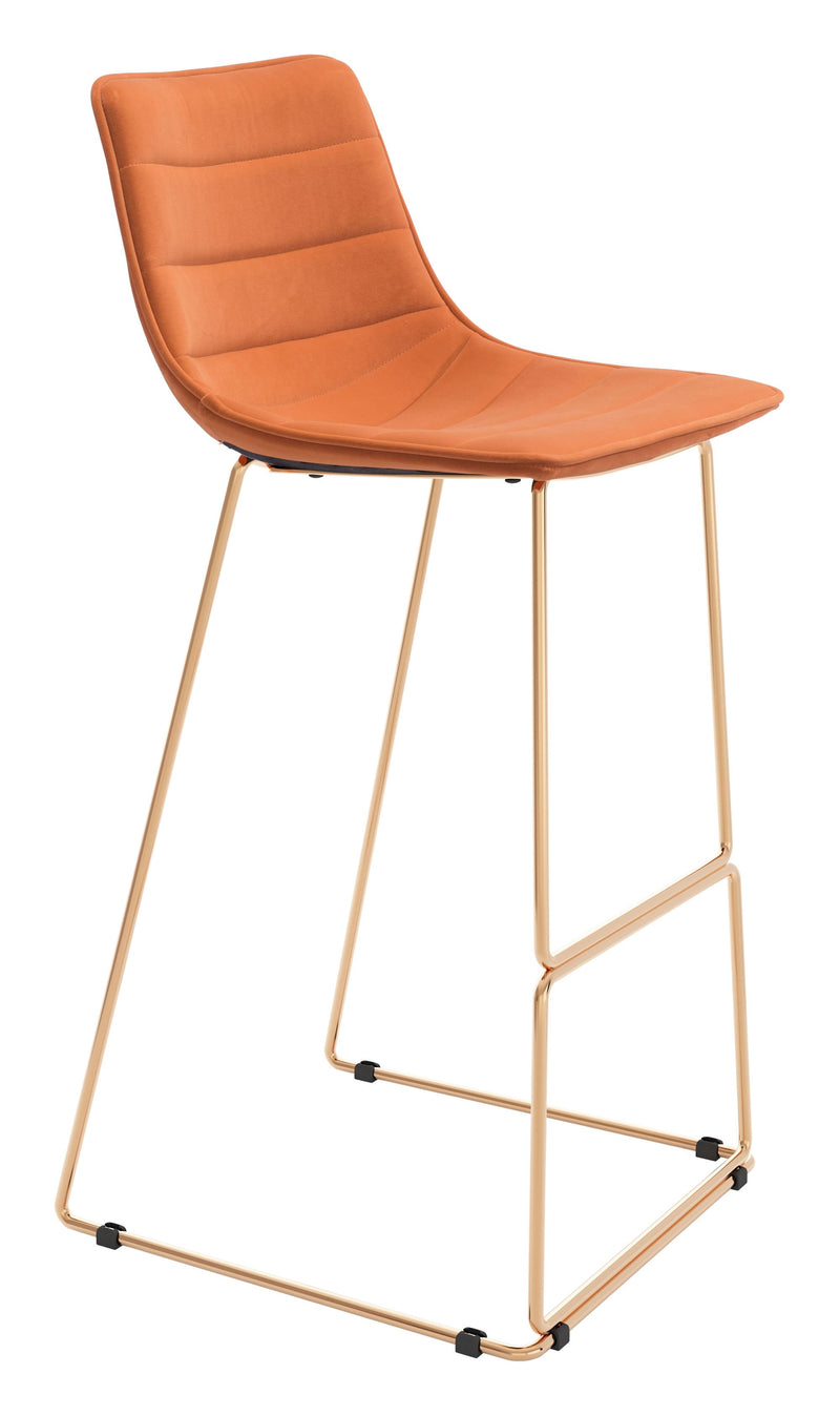 Adele Bar Chair Orange & Gold