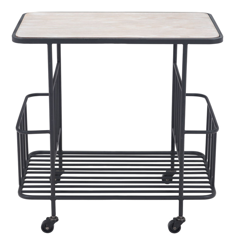 Argus Bar Cart Wood & Black