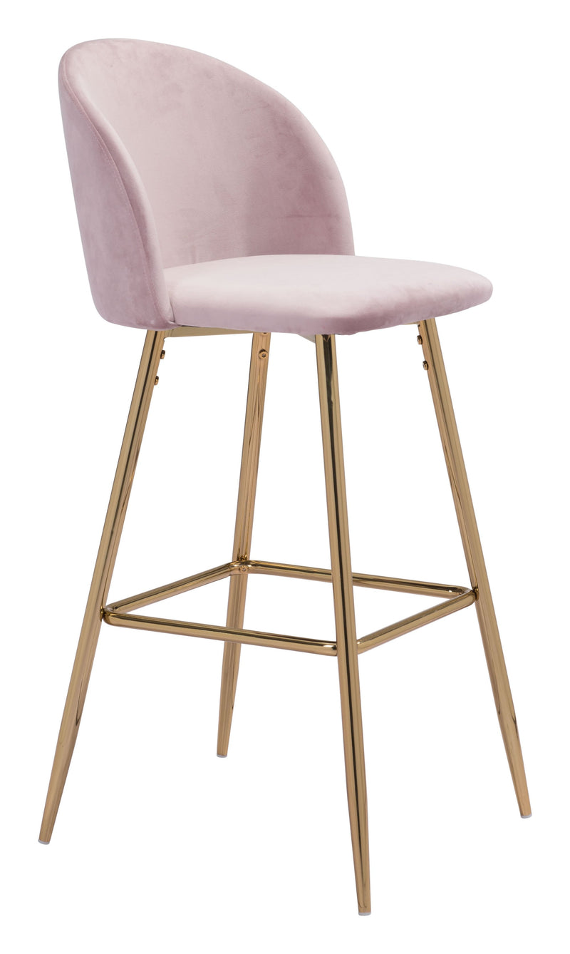 Cozy Bar Chair Pink