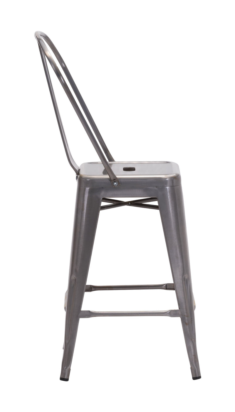 Elio Counter Chair Gunmetal (Set of 2)