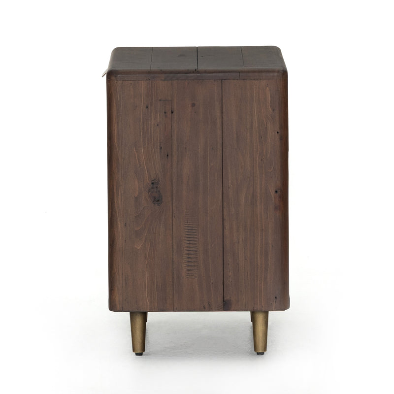 Lineo Nightstand-Rustic Saddle Tan