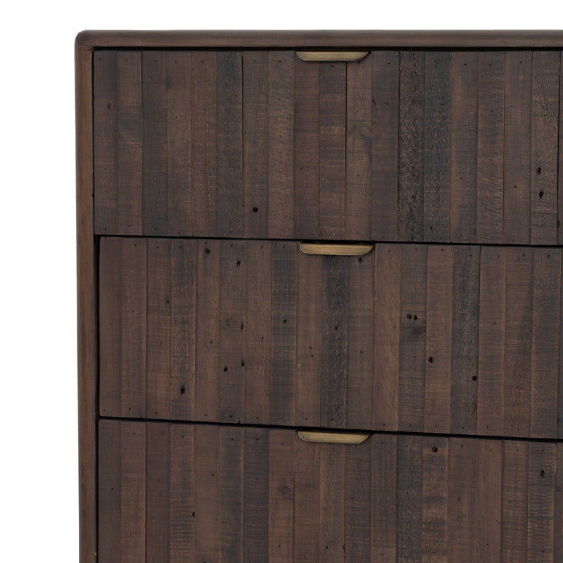 Lineo 6 Drawer Dresser-Rustic Saddle Tan