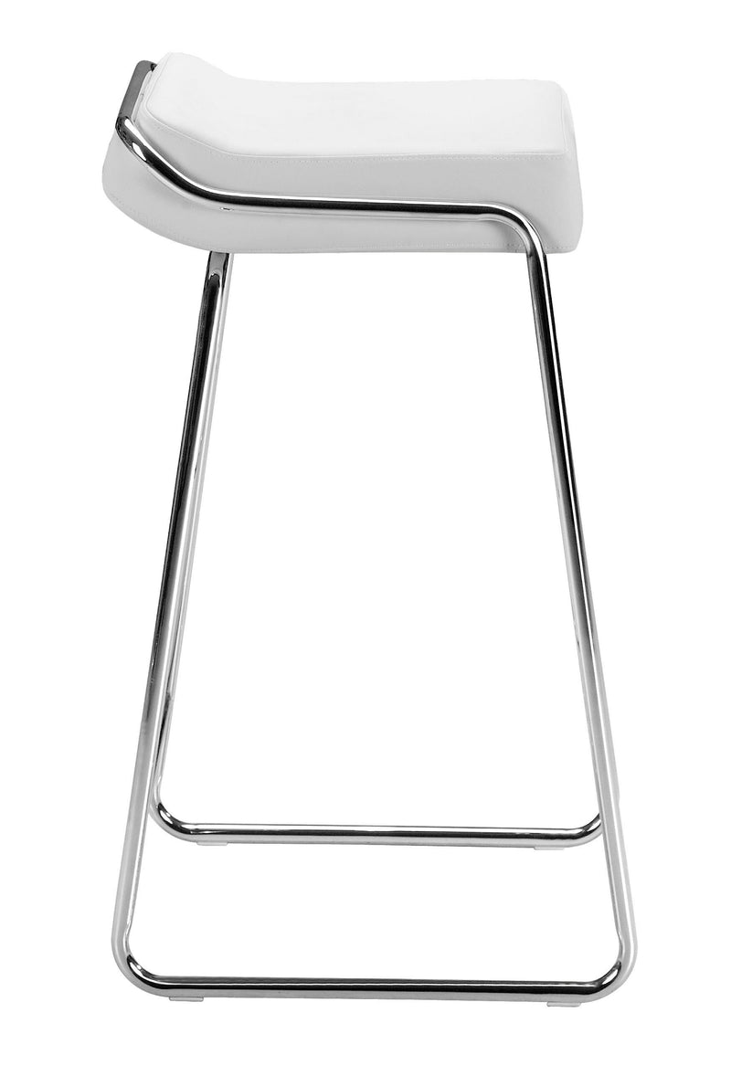 Wedge Barstool White (Set of 2)