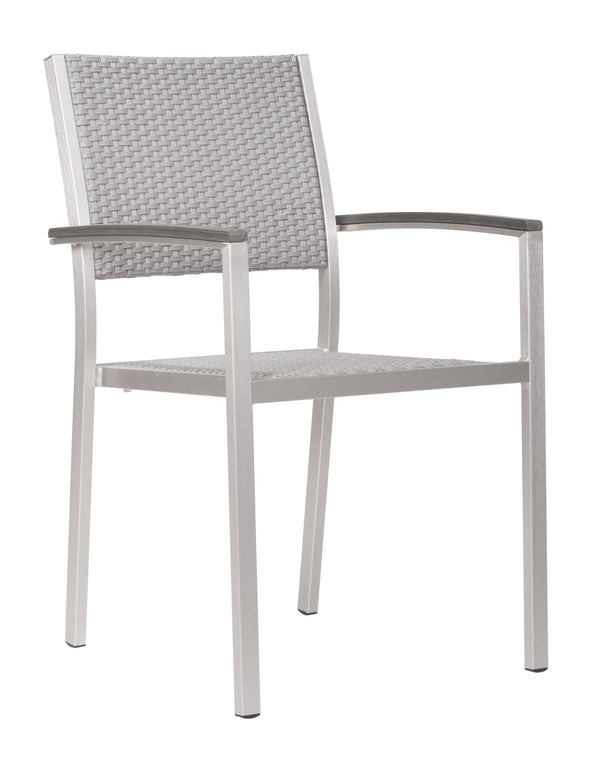 Metropolitan Arm Chair B. Aluminum (Set of 2)