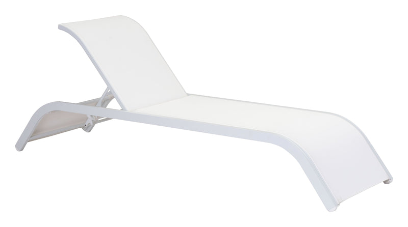 Sun Beach Chaise Lounge White