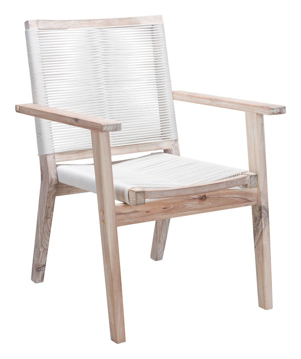 South Port Dining Chair White Wash & Wh (Set of 2)
