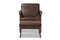 Bianca Brown Leather Lounge Chair And Ottoman Set