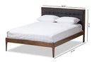 Jupiter   Grey   Button-Tufted Queen Size Platform Bed