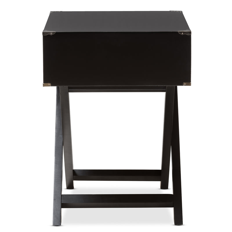 Curtice Modern And Contemporary Black 1-Drawer Wooden Bedside Table
