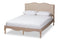 Campagne French Beige   Light Oak-Finished Full Sized Platform Bed