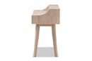 Fella 4-Drawer Oak and Grey Study Desk
