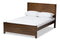 Catalina Modern Classic Mission Style Brown-Finished Wood Full Platform Bed