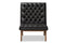 Annetha Black Leather Lounge Chair