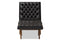 Annetha Black Leather Chair & Ottoman Set