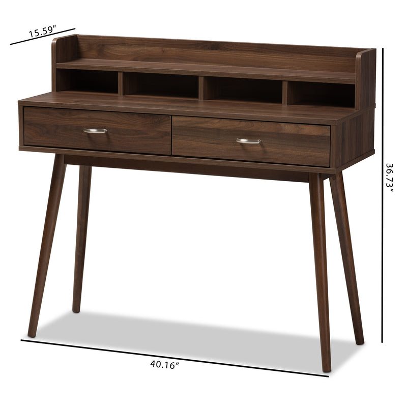 Disa Brown 2-Drawer Desk