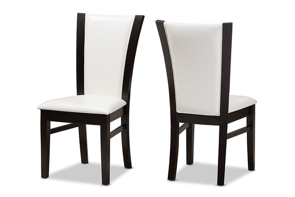 Adley White Leather Dining Chair (Set of 2)