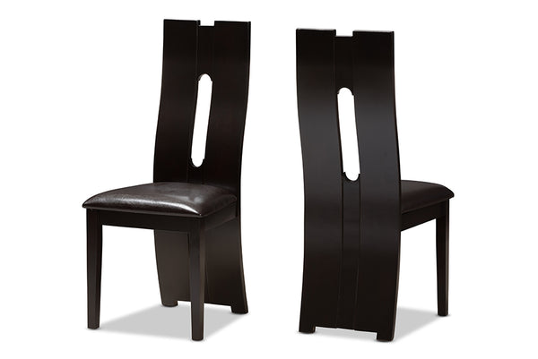 Alani Dark Brown Dining Chair (Set of 2)
