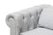 Alaise Grey Chesterfield 3-Piece Living Room Set