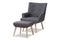 Alden Dark Grey Lounge Chair and Ottoman Set