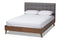 Alinia Grey King Size Platform Bed