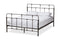 Ginette Vintage Industrial Antique Black Finished Metal Queen Size Platform Bed