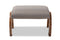 Sandrine   Grey   Walnut Brown Finished Wood Ottoman