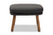 Lovise   Dark Grey   Walnut Brown Finished Wood Ottoman