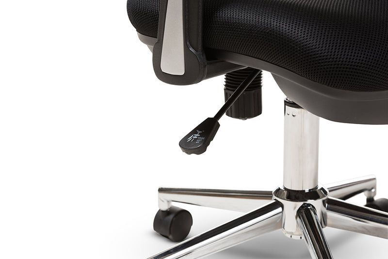 Landon   and Contemporary Black Mesh Adjustable Height Office Chair