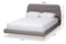 Ingrid Light Grey Full Size Platform Bed