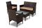 Alois Brown Rattan 4-Piece Outdoor Patio Lounge Set