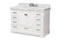 Amaris 48-Inch Transitional White Bathroom Vanity