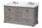 Amaris 60-Inch Transitional Grey Bathroom Vanity