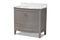 Nicole 36-Inch Transitional Grey Finished Wood and Marble Single Sink Bathroom Vanity