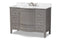 Nicole 48-Inch Transitional Grey Finished Wood and Marble Single Sink Bathroom Vanity