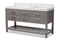 Yolanda 60-Inch   Grey Finished Wood and Marble Double Sink Bathroom Vanity