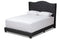 Alesha Charcoal Grey Queen Size Bed