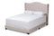 Alesha Beige Queen Size Bed