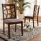Abilene Walnut Dining Chair Set of 2