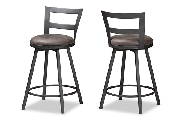 Arjean Industrial Counter Stool Set of 2