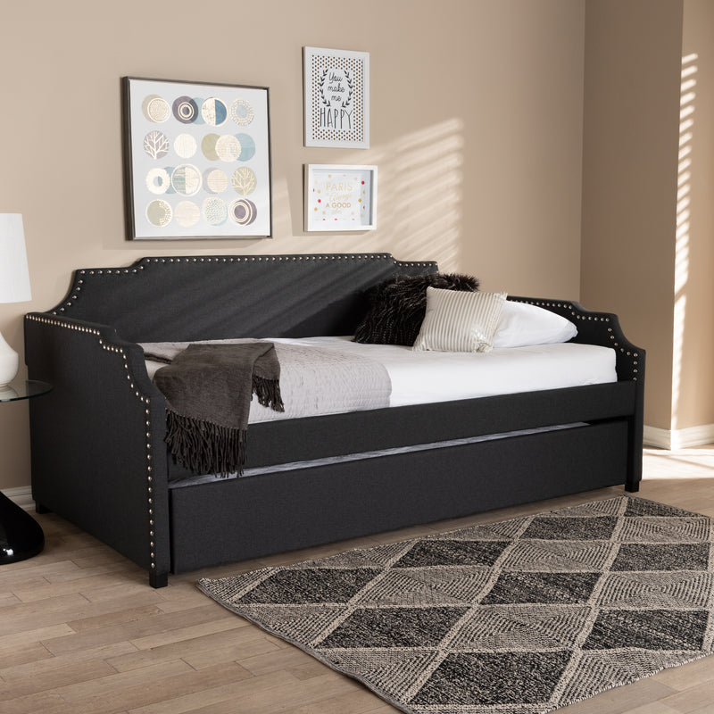 Ally Charcoal Twin Size Sofa Daybed