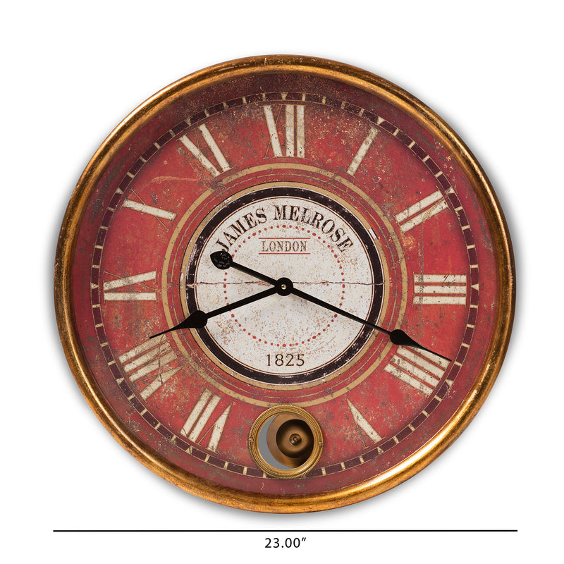 Alaire Antique Gold Finished Wall Clock