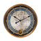 Clotaire Vintage Map Wall Clock